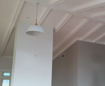 Lighting on the vaulted ceiling